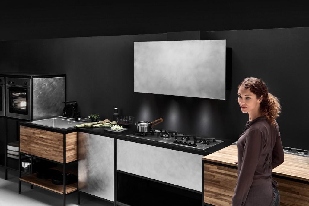 dettagli acciaio per cucina moderna