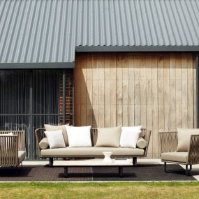 divano da giardino di design Kettal Reggio Emilia