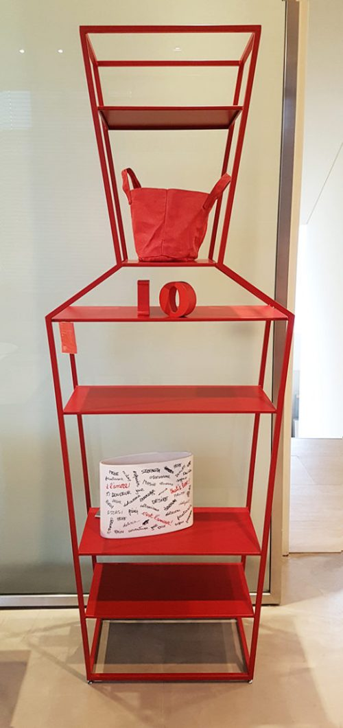 libreria in metallo rosso bonaldo in sconto Reggio Emilia