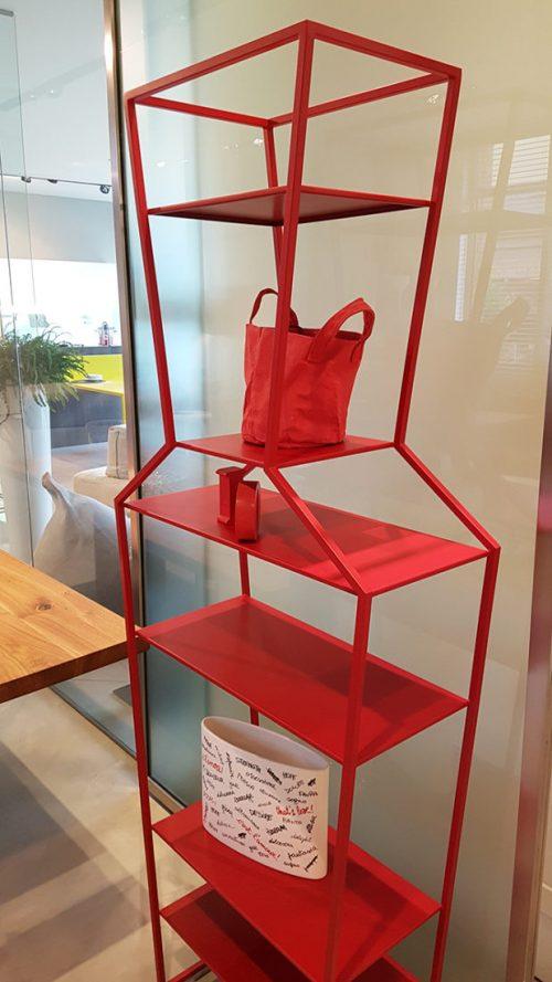 libreria in metallo rosso bonaldo Reggio Emilia