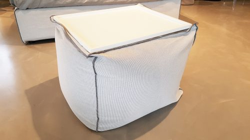 pouf moderno in tessuto scontato Reggio Emilia