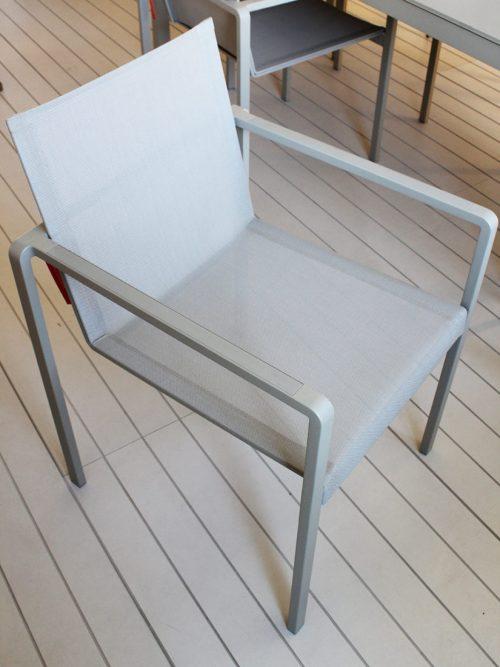 sedia da esterno moderna in alluminio Royal Botania