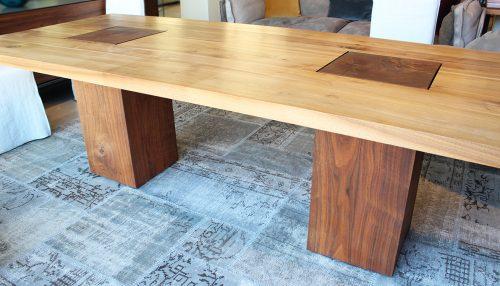 promozione tavolo rettangolare in legno massello