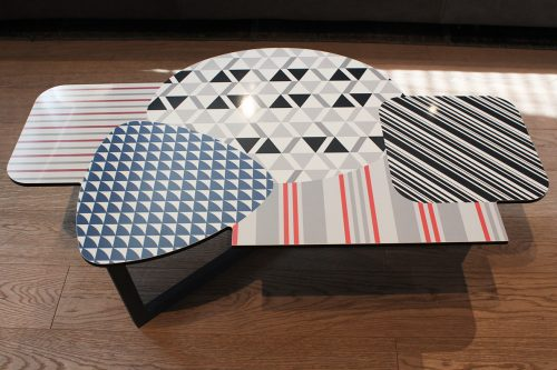 tavolino moderno Doppler di Bonaldo in sconto