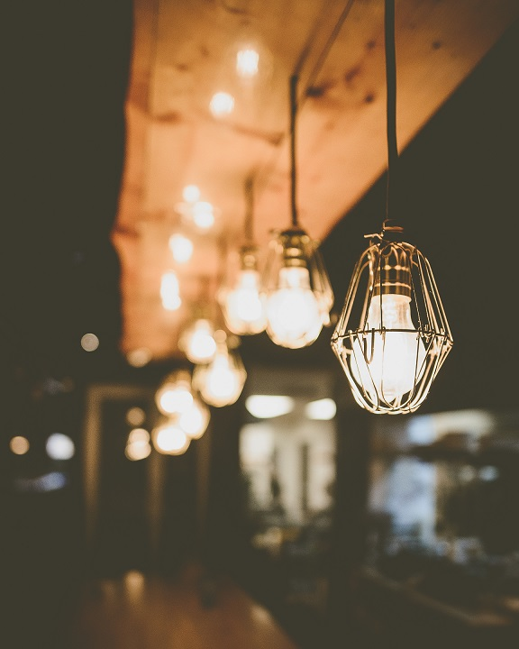 Illuminazione cucina industrial