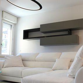 Salotto moderno con colori chiari