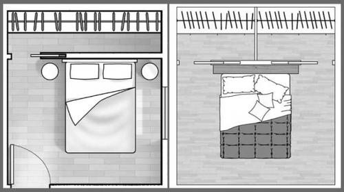 Cabina armadio in cartongesso per stanza rettangolare