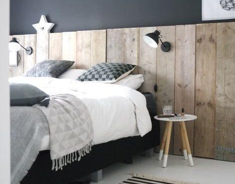 Testata in legno per il letto della camera matrimoniale moderna