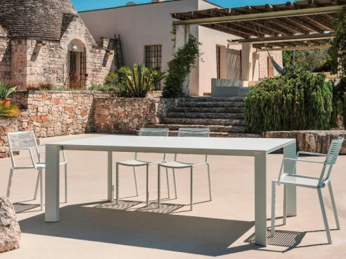 tavolo esterno allungabile alluminio