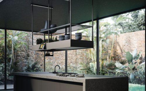 Cappa Spazio di Falmec per la cucina da arredare stile industriale
