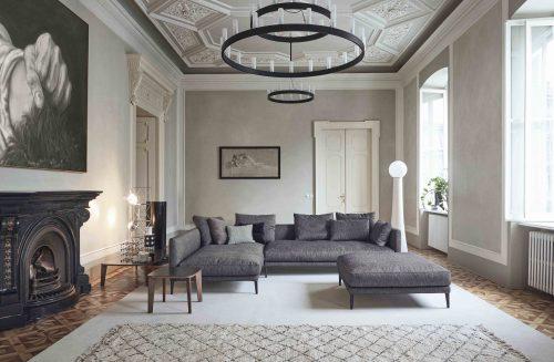 Accostamento classico moderno per arredo sala