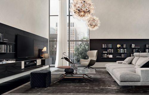 Come arredare il soggiorno con un divano ampio