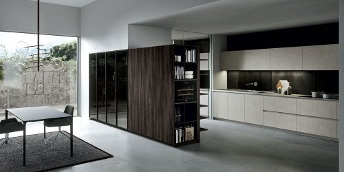 Progettazione casa moderna: soggiorno e cucina insieme
