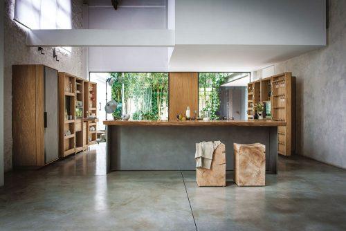 cucina moderna arredamento legno Riva 1920
