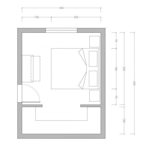 Dimensioni camera matrimoniale piccola
